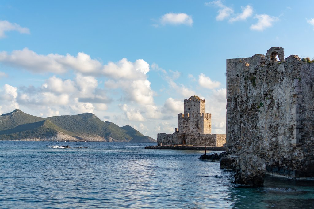 The old Venetian fortress in the town of Methoni