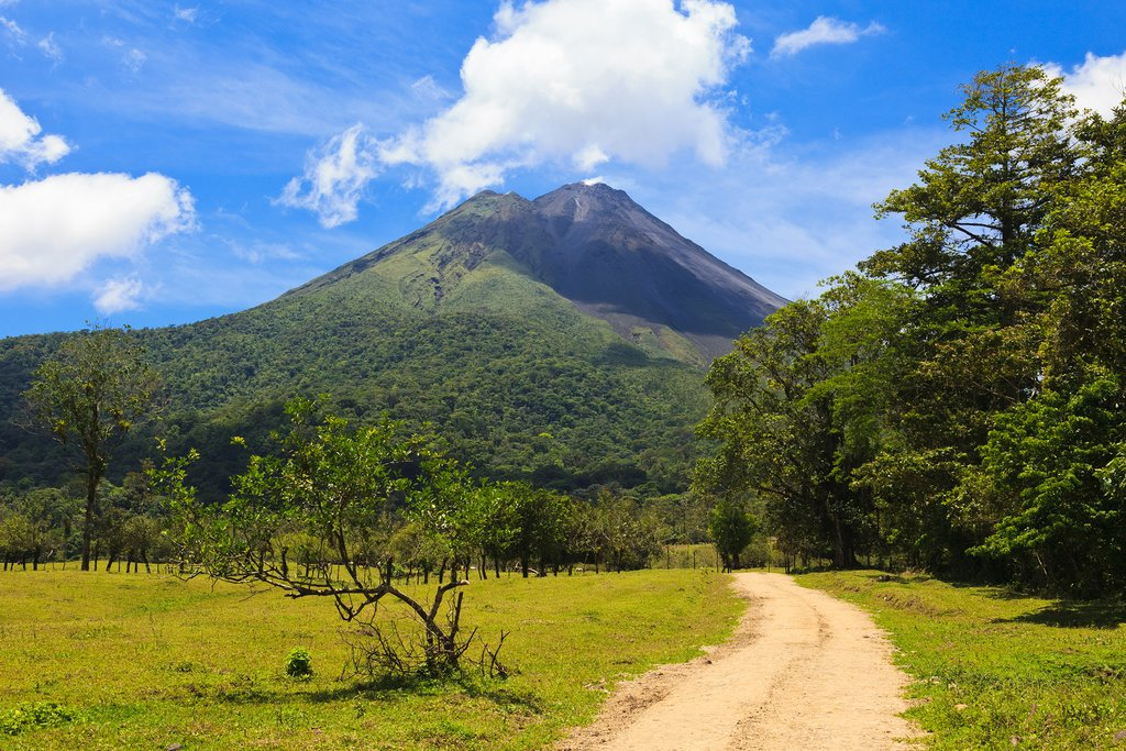 A road to Arenal Volcano