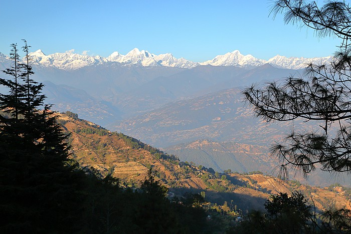 Himalayan views from Nagarkot on the edge of Kathmandu Valley