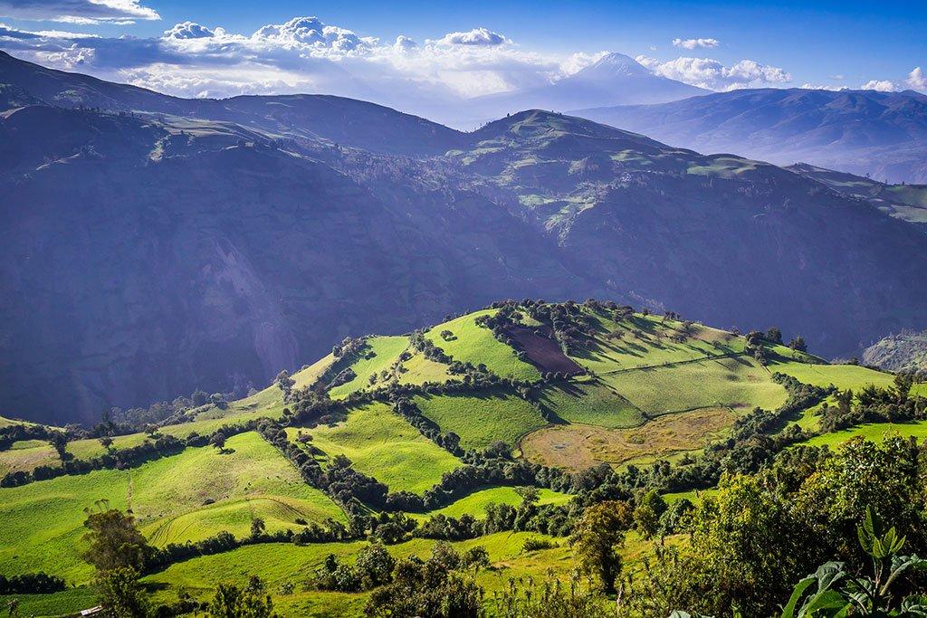 Andes near El Altar volcano in Riobamba region, Ecuador