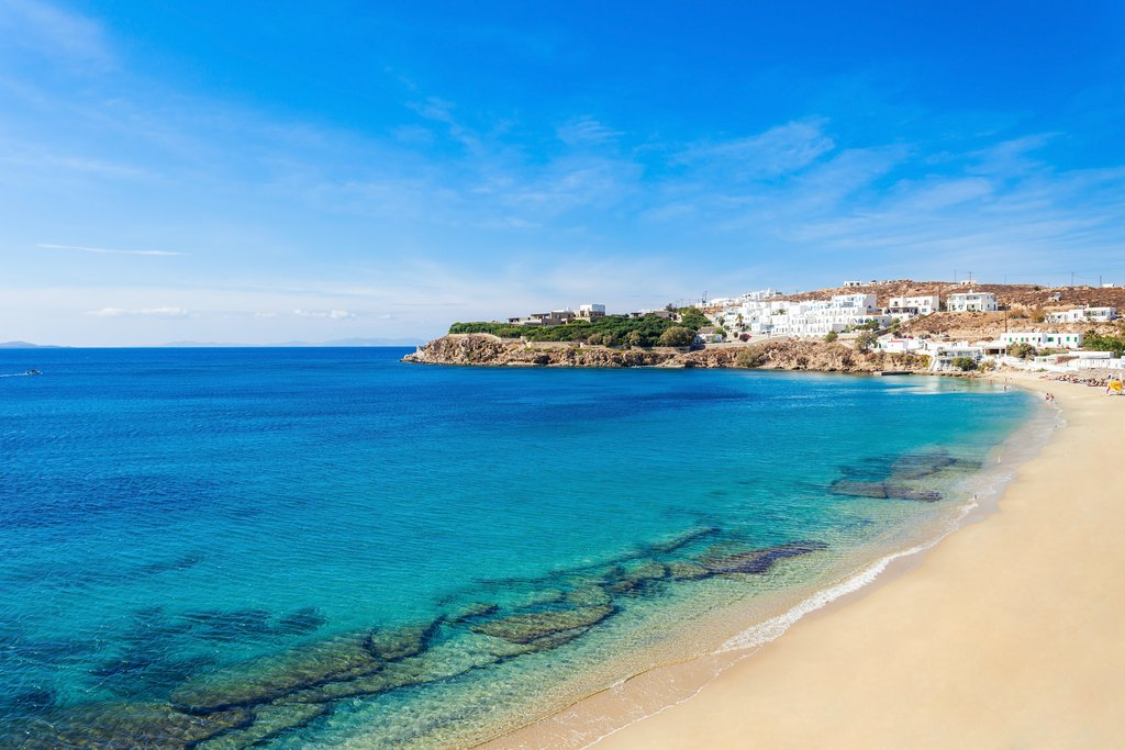 The beaches of Mykonos