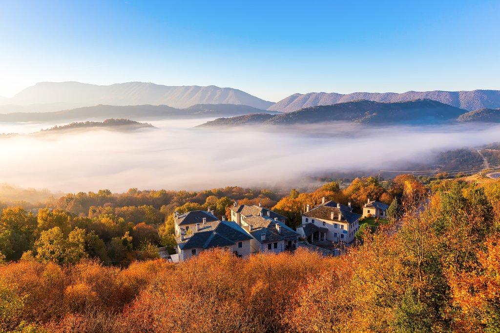 The mountains of Zagori in autumn