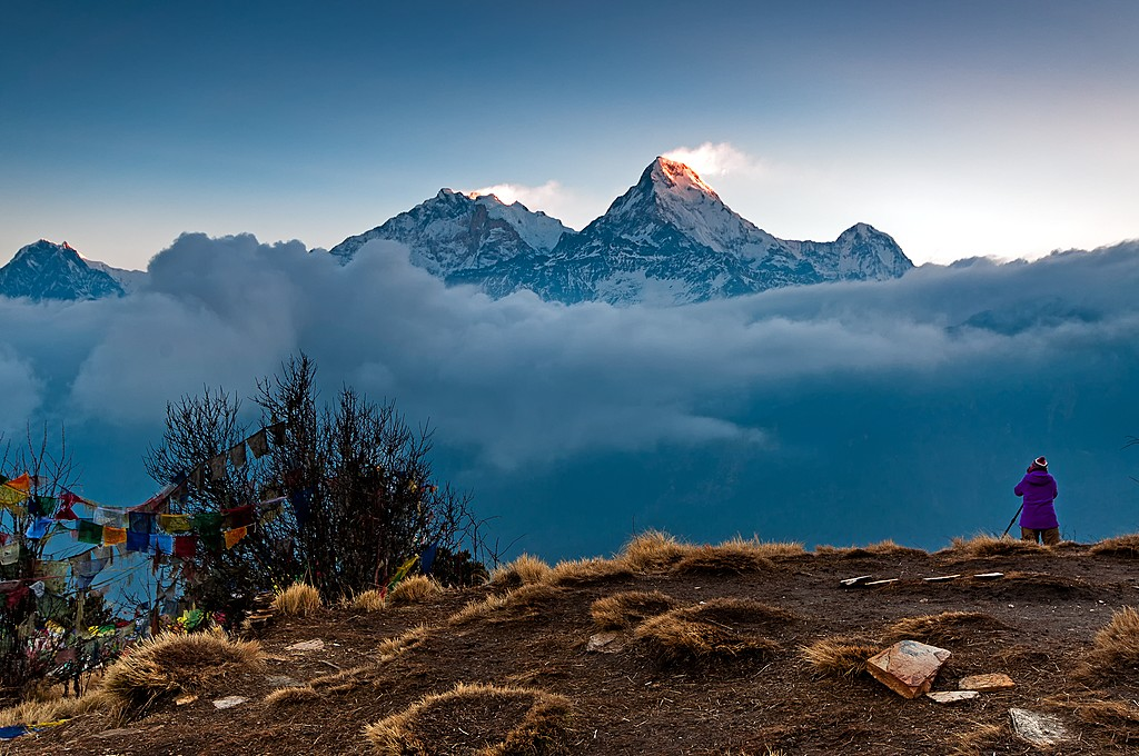 The Annapurna mountain range from Poon Hill