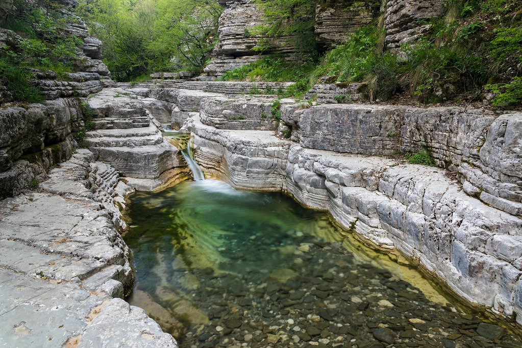 The curious rock formations of the Zagori landscape