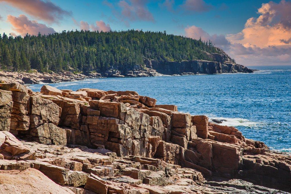 The craggy coastline of Maine