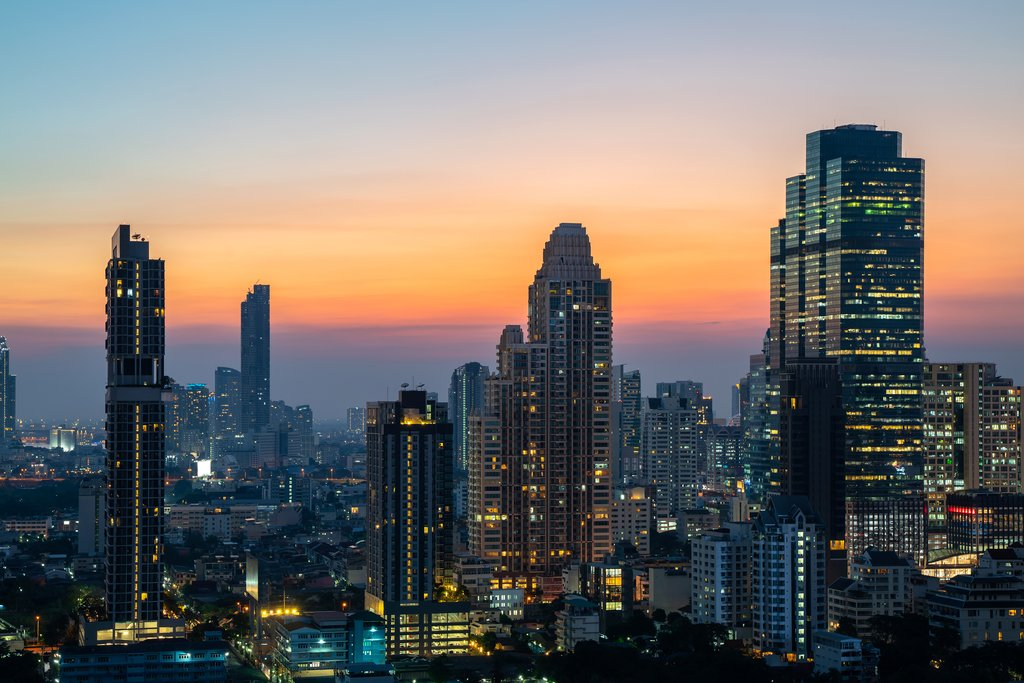 Night of the Metropolitan Bangkok City downtown cityscape urban skyline tower Thailand - Cityscape Bangkok city Thailand