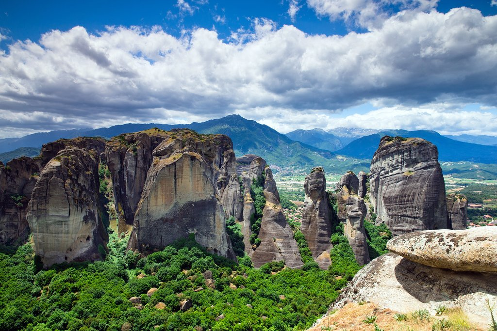 The rock formations of Meteora