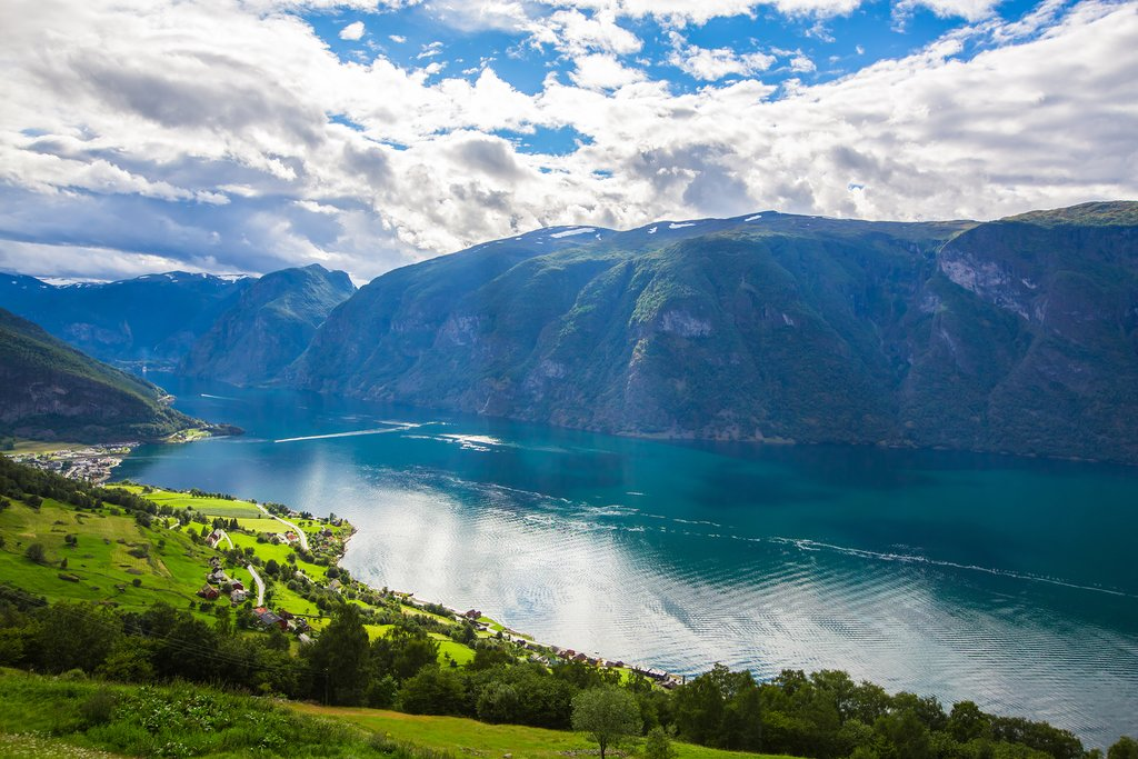 The Sognefjord, nicknamed King of the Fjords
