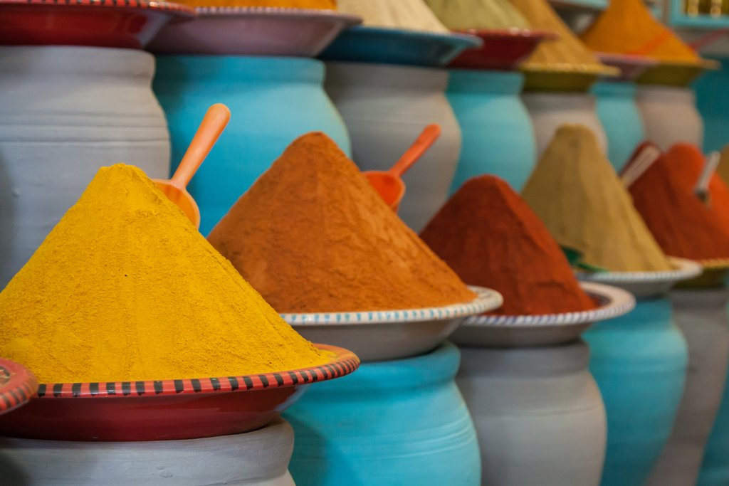 Spices in the souks of Marrakech