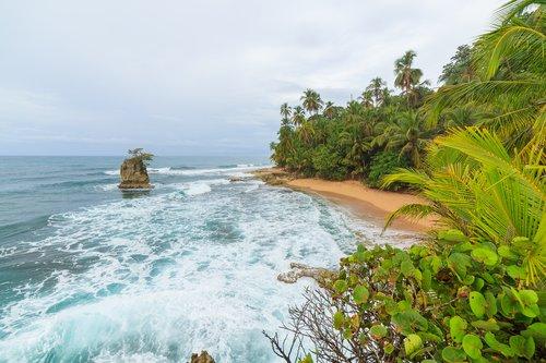 Beach scene at Manzanillo on the Caribbean coast