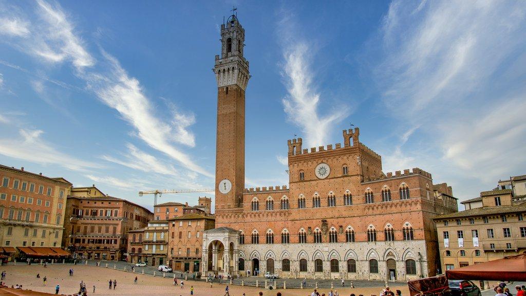 Medieval buildings in Siena