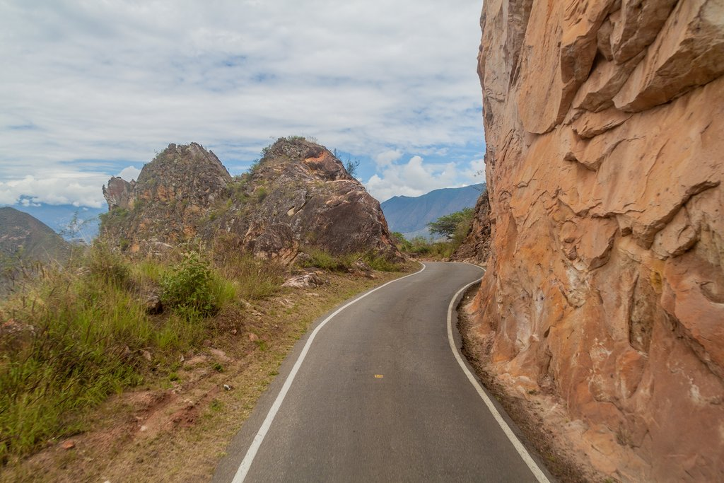 A mountain road in Leymebamba