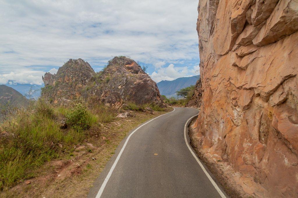A mountain road in Leymebamba