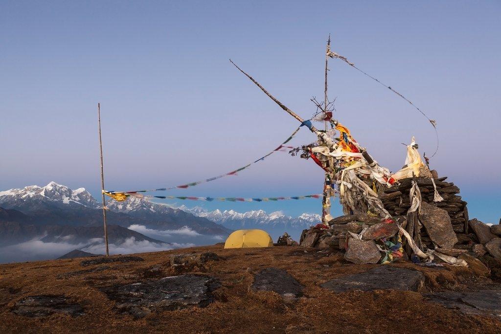 Camping atop Pikey Peak
