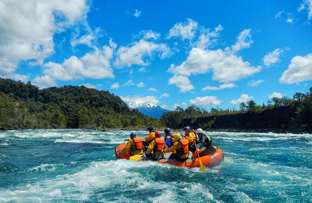 Rafting at the Petrohue River
