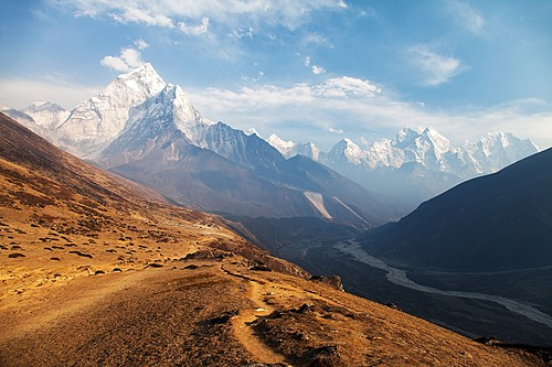 A view of Mt. Ama Dablam en route to Everest Base Camp