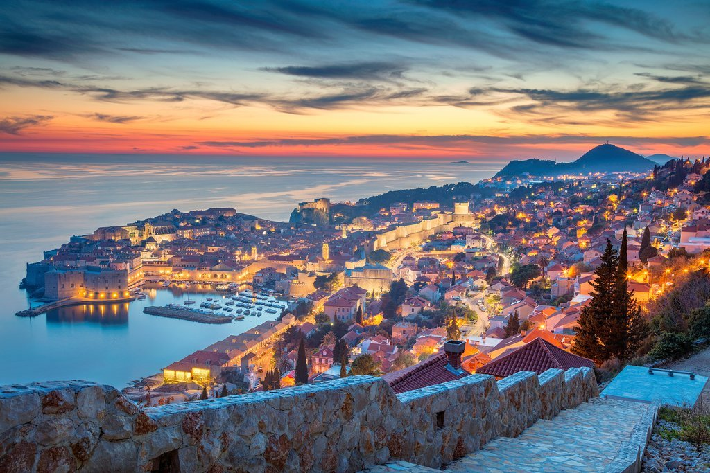 Take in a sunset over Dubrovnik from atop Srđ Mountain