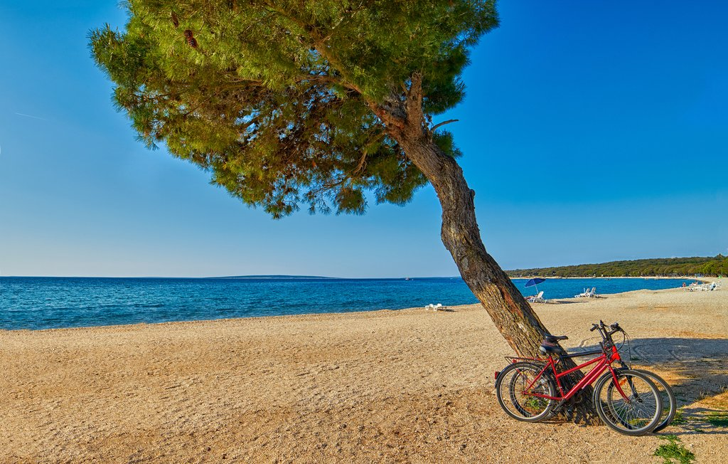 Cycling along Croatia's coast