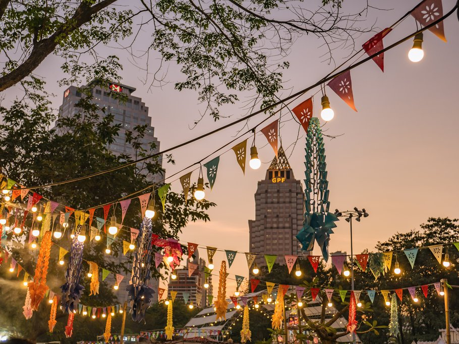 Bangkok, Thailand- Jan. 24 2019: Thailand Tourism Festival 2019 at Lumphini Central Park.