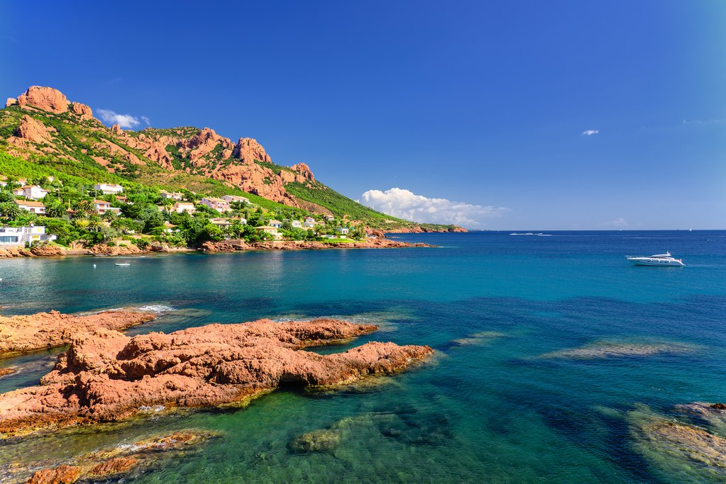Rocky coastline of the French Riviera