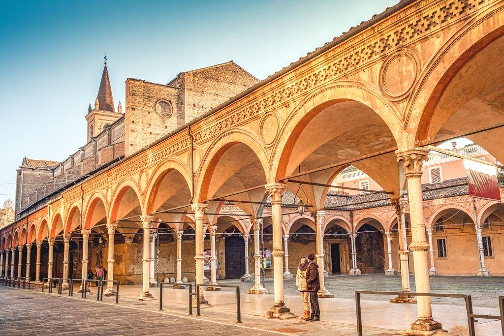 Santa Lucia Archway in Bologna