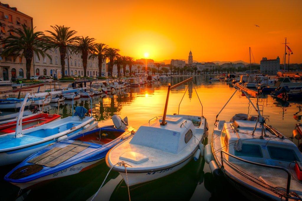 Sunset over Split