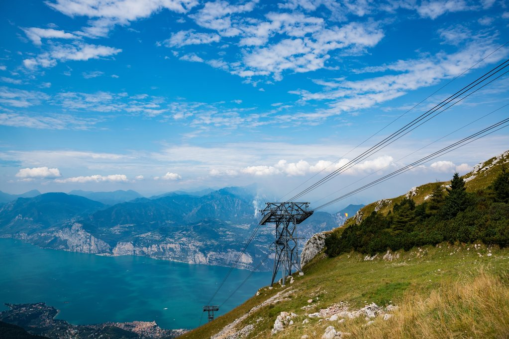 Cable car on top of Monte Baldo
