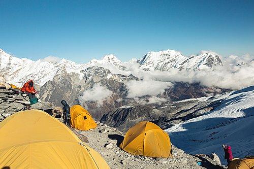 High-altitude camp on Mera Peak