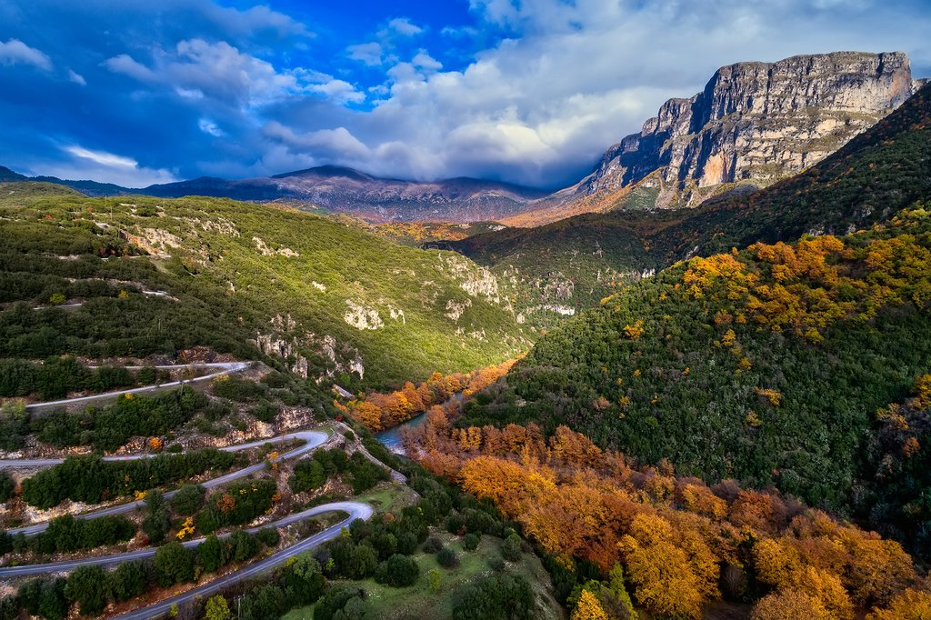 One of the roads up to Zagori