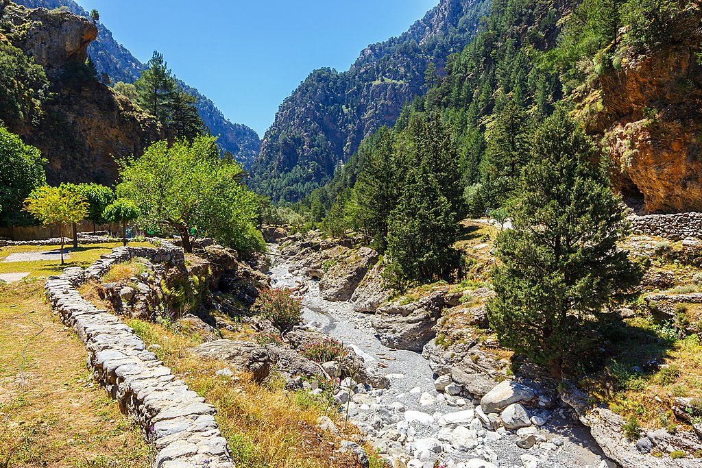 Site of a former village in Samaria Gorge