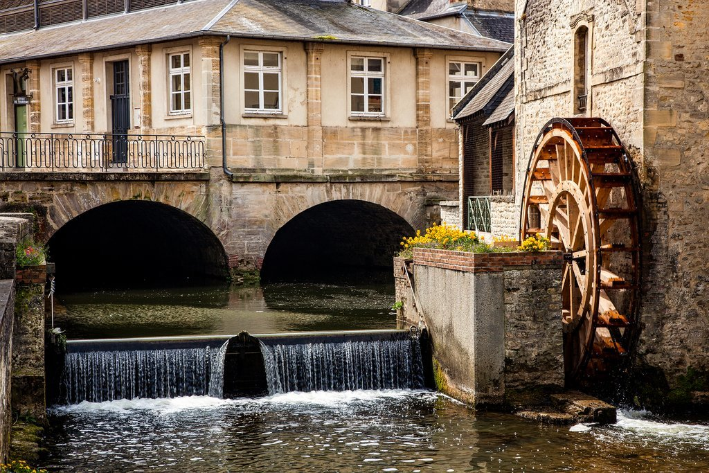 Water mill in the Old Town of Bayeux