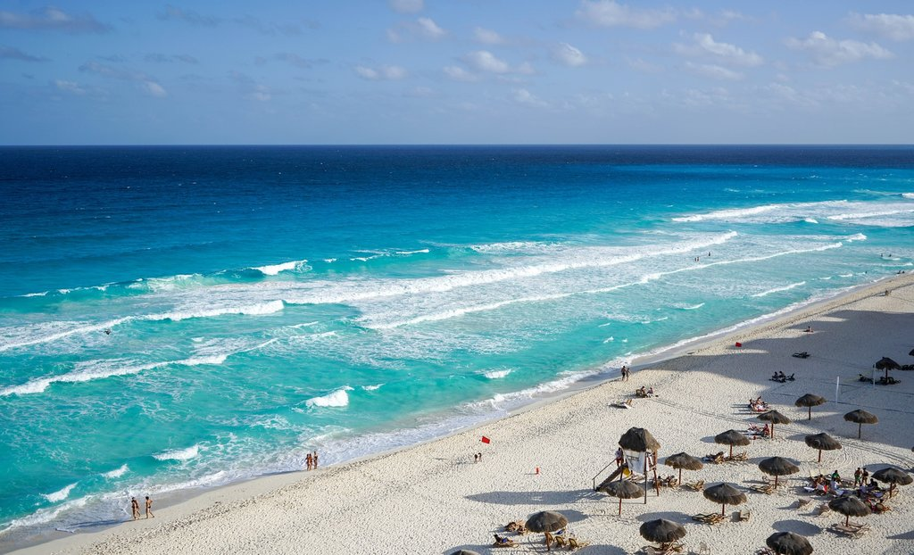 Cancun's idyllic coastline