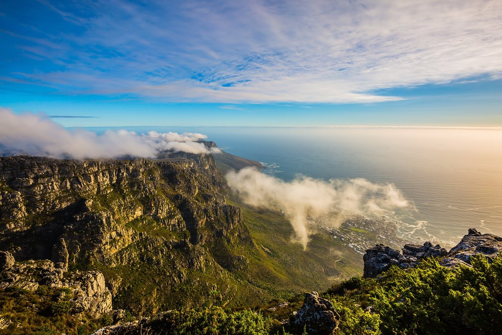 View of the Atlantic from Table Mountain, Cape Town