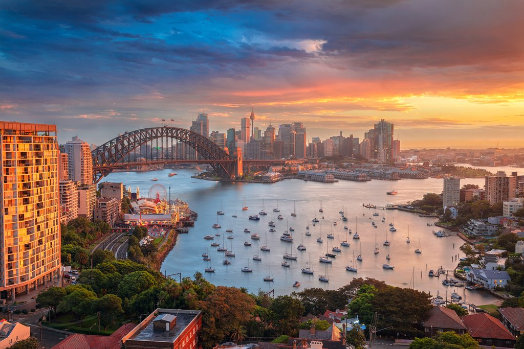 View of Sydney, Australia at Sunset