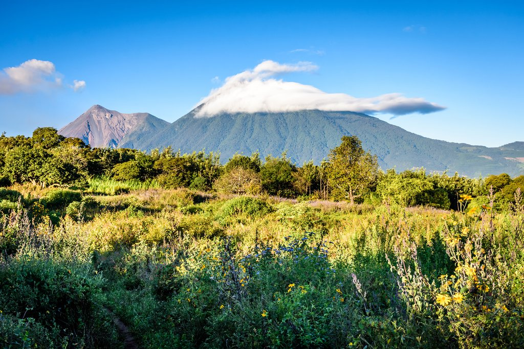 View of Acatenango Volcano, Guatemala