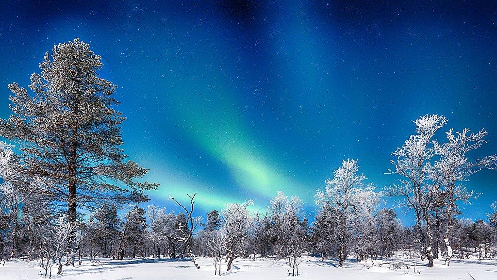 Winter wonderland scenery in Northern Norway