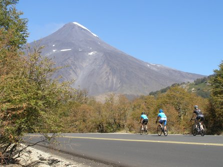 Biking along central Chile's backroads.