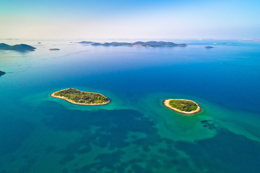 Two lonely islands off the coast of Zadar in the Kornati National Park