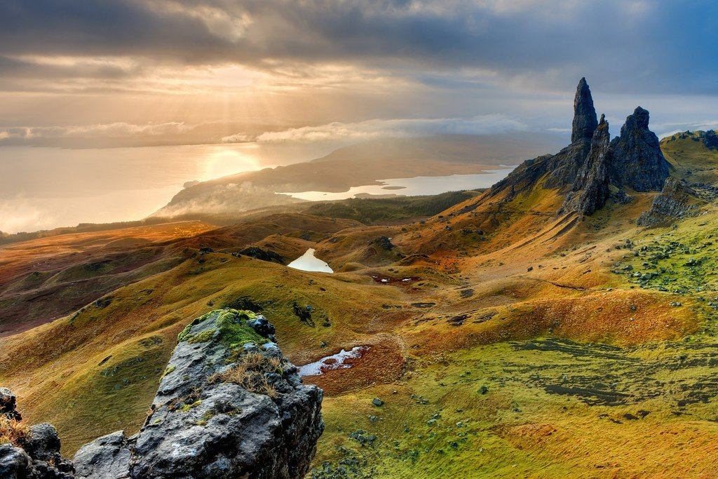 The Old Man of Storr overlooking Skye's coast.