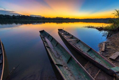 Sunset over the Amazon