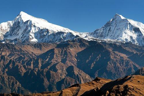 Putha Churen Himal and Dhaulagiri Himal