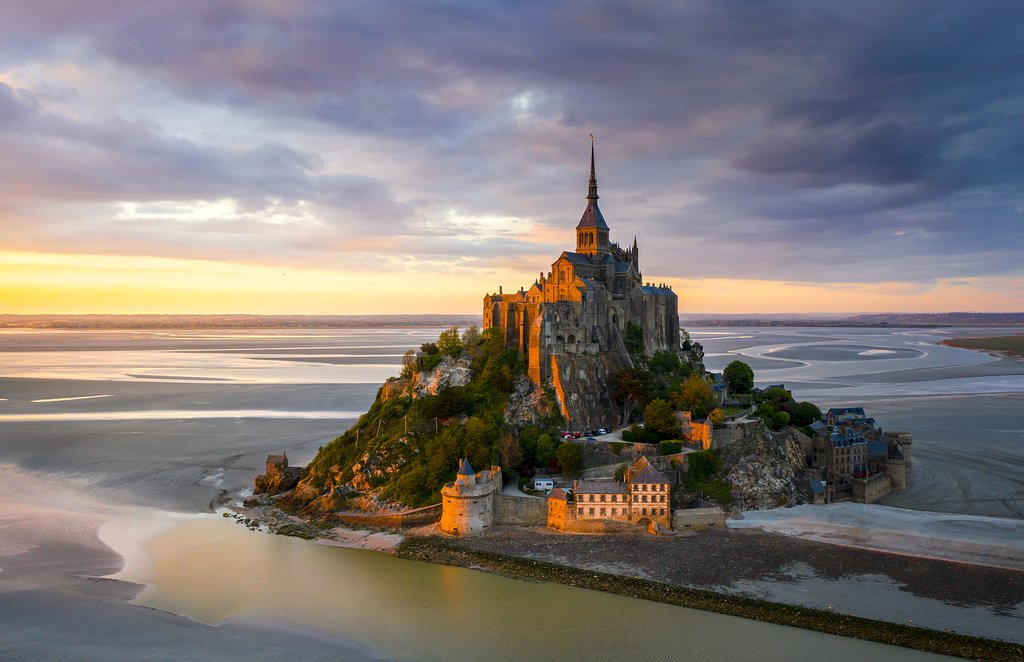 Mont Saint Michel dating back to the 8th century