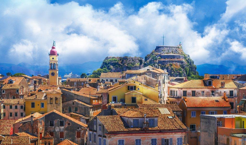The rooftops of Corfu