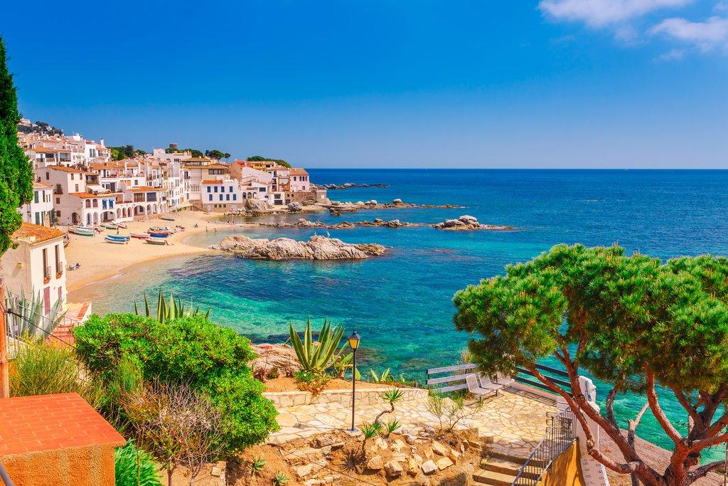 A coastal village and beach near the town of Begur