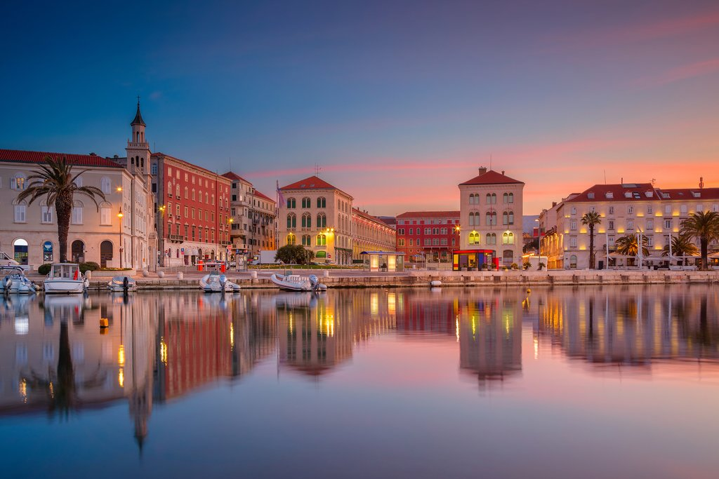 Split, Croatia at Sunset