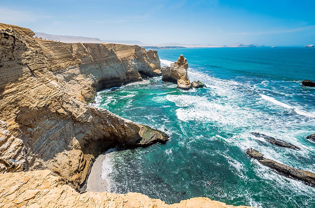 Cathedral rock formation in Paracas National Reserve