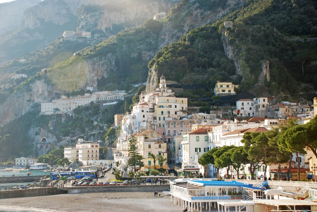 Steep Buildings on the Amalfi Coast