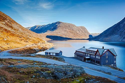 Hotel on Djupvatnet Lake, Norway