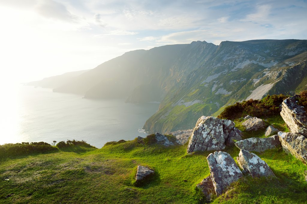 Hiking at Slieve League in Donegal