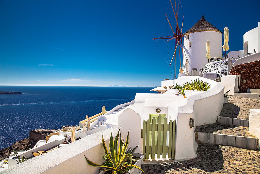Windmills of Santorini